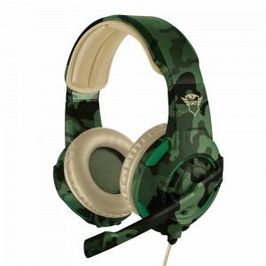 Стерео наушники с микрофоном Trust  22207 проводные игровые зеленые