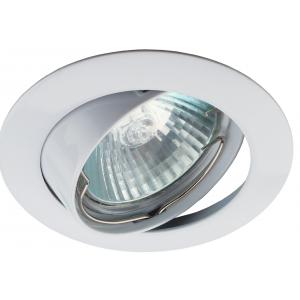 KL1A WH /1 Светильник ЭРА литой простой пов. MR16,12V/220V, 50W белый (100/2100)