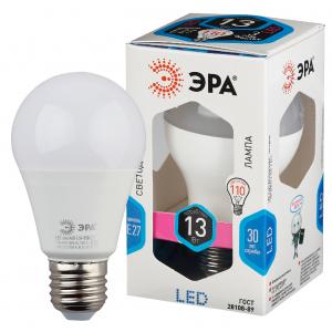 LED A60-13W-840-E27 ЭРА (диод, груша, 13Вт, нейтр, E27) (10/100/2000)