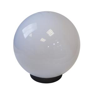 Садово-парковый светильник ЭРА  НТУ 02-100-351 шар белый крепится на опору IP44 60Вт E27 D200mm