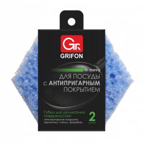 Grifon Губки д/ тефлоновой посуды, 2 шт в  упак. (20/2280)