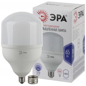 Лампочка светодиодная ЭРА STD LED POWER T160-65W-6500-E27/40 Е27 / Е40 колокол холодный дневной свет
