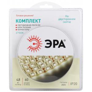 ЭРА Комплект светодиодной ленты 2835kit-4,8-60-12-IP20-2700-5m (50/1200)