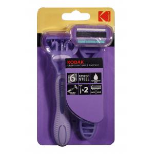 Kodak Disposable Razor Lady 6, purple, станок одноразовый (2 pack) (48/192/2304)