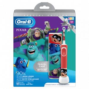 ORAL-B Э/щетка Vitality Kids D100.413.2KX Pixar + чехол (коробка) (6/192)