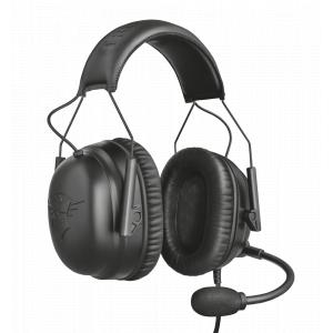Стерео наушники с микрофоном Trust  23248 проводные игровые черные GXT444 WAYMAN