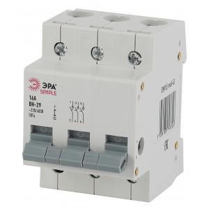 SIMPLE-mod-64 ЭРА SIMPLE Выключатель нагрузки 3P 25А ВН-29 (4/60/1200)
