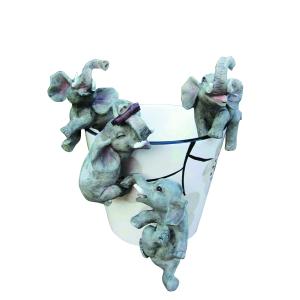 Декоративная подвеска GREEN APPLE  GRHP4-10-1 Слоненок 8,4*5,9*12 для цветочного горшка