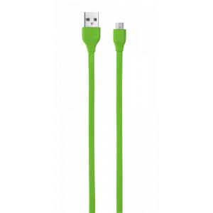 20138 Trust FLAT UR MICRO-USB 1M Лаймовый (100/1800)