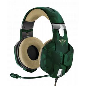 Стерео наушники с микрофоном Trust  20865 проводные игровые зеленые