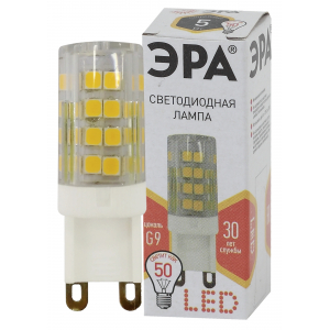 LED JCD-5W-CER-827-G9 ЭРА (диод, капсула, 5Вт, тепл, G9) (100/1000/30000)