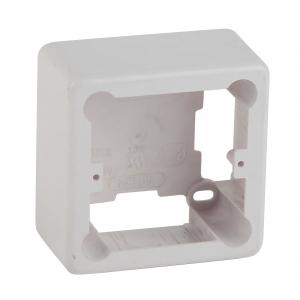 ЭРА Коробка установочная 1-местная под кабель-канал КУK 85х85х42мм белая IP20 (44/1760)