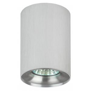 OL1 GU10 SL/CH Подсветка ЭРА накладной, GU10, D80*100мм, серебро/ хром (50/700)