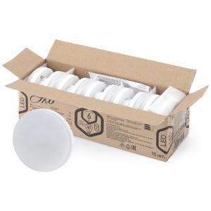 ECO LED GX-6W-827-GX53 (10-PACK) ЭРА (диод, таблетка, 6Вт, тепл, GX53) (10/100/5600)