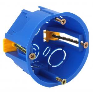 ЭРА Коробка установочн. КУП 68х45мм для полых стен саморез. пласт. лапк. синяя IP30 (200/4000)