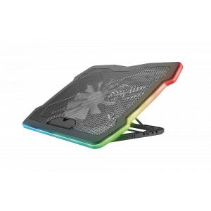 Подставка для ноутбука Trust  24192 охлаждающая с цветной подсветкой 17 дюймов AURA