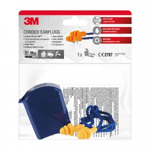 Беруши вкладыши противошумные 3М 1271 со шнурком в пластиковом контейнере 1 пара