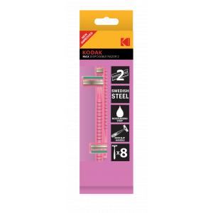 Kodak Disposable Razor MAX 2, pink, станок одноразовый (8 pack) (192/768/15360)
