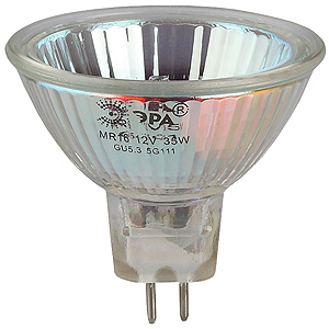 Лампа галогенная ЭРА STD GU5.3-MR16-35W-12V-CL GU5.3 35Вт софит нейтральная