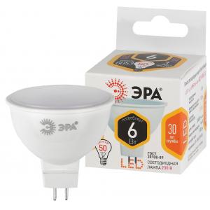 Лампочка светодиодная ЭРА STD LED MR16-6W-827-GU5.3 GU5.3 6Вт софит теплый белый свет