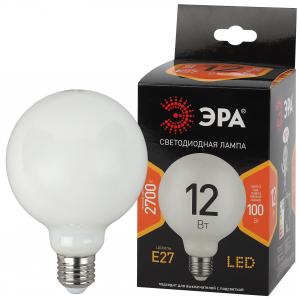 F-LED G95-12w-827-E27 OPAL ЭРА (филамент, шар опал, 12Вт, тепл, E27) (20/560)