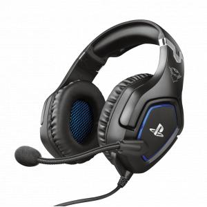 Стерео наушники с микрофоном Trust  23530 проводные игровые черные для PS4 GXT 488 Forze
