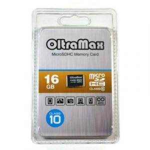 OltraMax Micro SD 16 Gb Class 10 без адаптера (25/7500)