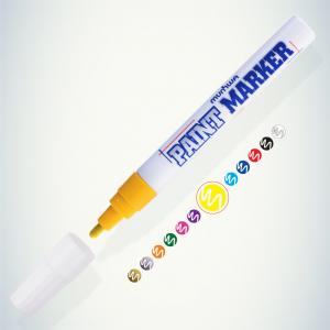 198670 MunHwa Маркер-краска PAINT MARKER, ЖЕЛТАЯ 4мм (PM-08) (12/576/13824)