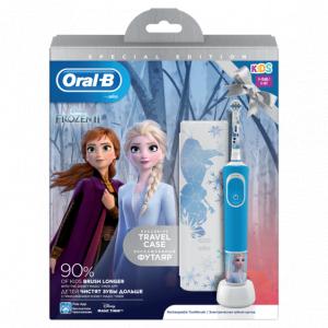 ORAL-B Э/щетка Vitality Kids D100.413.2KX Frozen + чехол (коробка) (6/192)