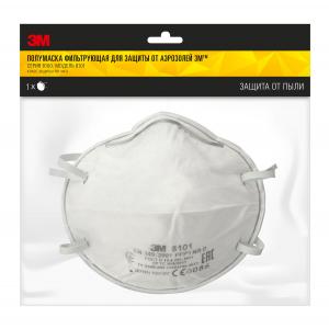Полумаска фильтрующая 3М 8101-1 для защиты от аэрозолей в упаковке