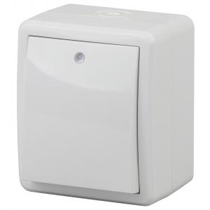 11-1402-01 ЭРА Выключатель с подсветкой IP54, 10АХ-250В, ОУ, Эра Эксперт, белый (16/160/2560)