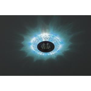 DK LD2 SL/BL+WH Светильник ЭРА декор cо светодиодной подсветкой (голубой+белый), прозрачный (50/1750)