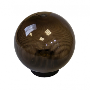 НТУ 02-60-205 ЭРА Светильник садово-парковый шар дымчатый призма D200mm Е27 (6/90)