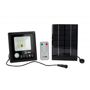 ЭРА Прожектор светодиодный уличный на солн. бат. 20W, 350 lm, 5000K, с датч. движения, ПДУ, IP65 (6/