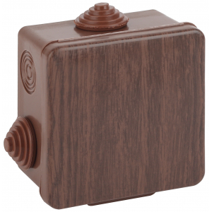ЭРА Коробка распаячн. открытой установки КОР (дуб) 100х100х50мм с гермовводами 8 вх. IP54 (18/648)