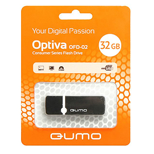 Флэш-диск QUMO 32 Gb Optiva-02 Black (25/7500)