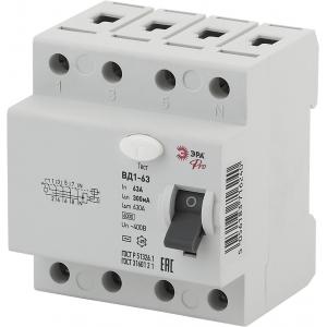 ЭРА Pro Устройство защитного отключения NO-902-46 УЗО ВД1-63 3P+N 63А 300мА (45/810)
