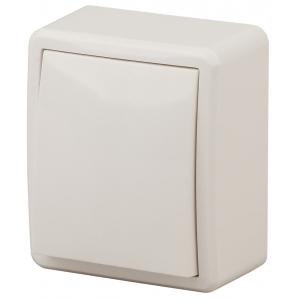 11-1202-02 ЭРА Выключатель с подсветкой, 10АХ-250В, IP20, ОУ, Эра Эксперт, сл.кость (16/160/3200)