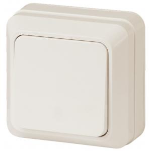2-101-02 Intro Выключатель, 10А-250В, IP20, ОУ, Quadro, сл.кость (10/200/3600)