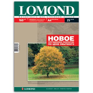0102079 Lomond Бумага IJ А4 (глянц) 160г/м2 (25 л) (38/1254)