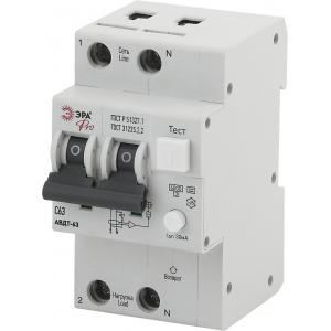 ЭРА Pro Автоматический выключатель дифференциального тока NO-902-05 АВДТ 63 C63 30мА 1P+N тип A (60/