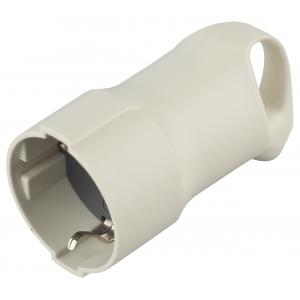 R3  ЭРА Розетка кабельная c/з 16A с кольцом непрямой ввод белая (10/200/3200)