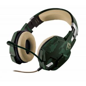 20865 Trust Игровая гарнитура Carus GXT 322C, зеленый камуфляж (6/120)