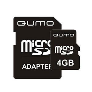 QUMO Micro SDHC 04 Gb Class 4 + adapt (25/7500)