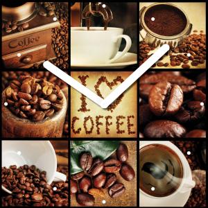 """Innova Часы W09658 """"Время для кофе"""", квадратные, стекло, размер 30*30 см (10/120)"""