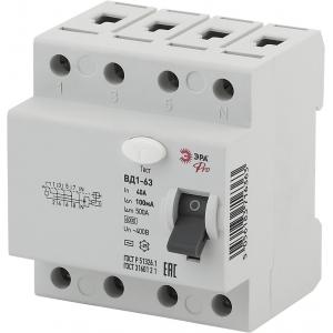 ЭРА Pro Устройство защитного отключения NO-902-61 УЗО ВД1-63 3P+N 40А 100мА (45/945)