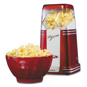 Ariete Прибор для приготовления попкорна 2952 PARTY TIME.  Ретро дизайн, цвет - красный (4/80)
