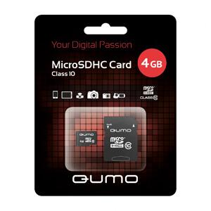 QUMO Micro SDHC 04 Gb Class 10 + adapt (25/7500)
