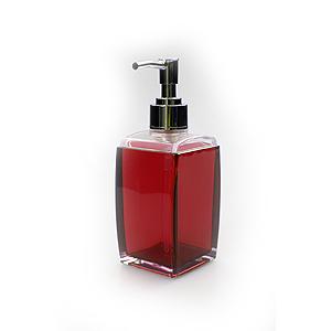 White Fox Дозатор для жидкого мыла, красный 6,5*6*17см (24/1152)