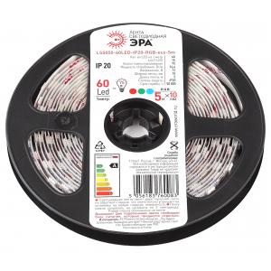 ЭРА Лента светодиодная LS5050-14,4-60-12-RGB-IP20-1 year-5m (50/2000)